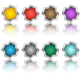 Multi-colored buttons. From metal Stock Image