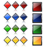 Multi-colored buttons Royalty Free Stock Photography