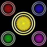 Multi-colored buttons royalty free illustration