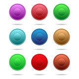 Multi-colored buttons. Set of multi-colored buttons for the site Royalty Free Stock Images