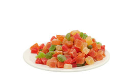 Multi-colored candied fruits Stock Photo