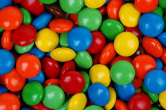Multi-Colored Candy. Close-up of round multi-colored candies. Can be used as a background Royalty Free Stock Images