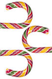 Multi colored candy canes Royalty Free Stock Image