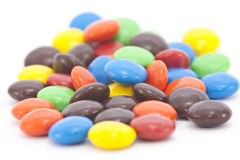 Multi-colored Candy On White Royalty Free Stock Photo
