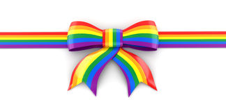 Multi Colored Celebration Bow Royalty Free Stock Images