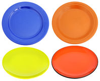 Multi-colored ceramic plates Royalty Free Stock Photo