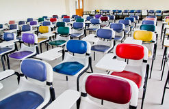 Multi colored chairs Stock Photography