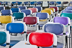 Multi colored chairs Royalty Free Stock Image
