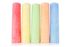Multi colored chalk Stock Photos