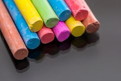 Multi colored chalk royalty free stock photos