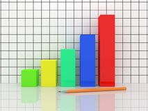 The multi-colored chart Stock Images
