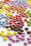 Multi colored Chocolate candy on white background Stock Image