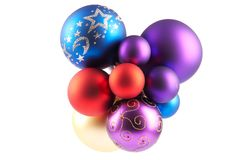 Multi-colored Christmas balls Royalty Free Stock Photo