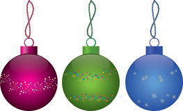 Multi-colored Christmas balls Royalty Free Stock Images