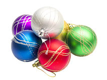 Multi-colored Christmas balls Stock Photo