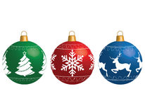 Multi-colored Christmas balls isolated on a white background Royalty Free Stock Photo