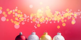 Multi colored Christmas bauble Royalty Free Stock Image
