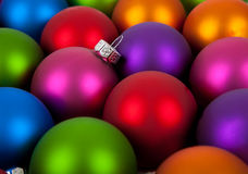 Multi-colored christmas ornament/baubles Stock Photo