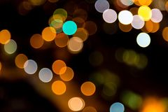 Bokeh blurred lights design pattern