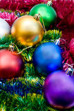 Multi-colored Christmas tree balls Royalty Free Stock Photo
