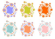 Multi-colored circles Royalty Free Stock Photography