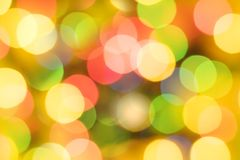 Multi-colored circles and a blurred background stock images