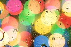 Multi-colored circles and a blurred background royalty free stock photo