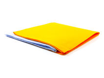 Multi colored cleaning cloths isolated Stock Photo