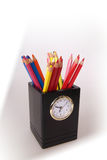 Multi Colored. Clock Royalty Free Stock Photography