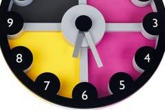 Multi-colored clock Stock Photo