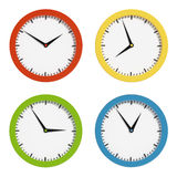 Multi-colored clocks. 3d render Stock Photo