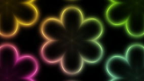 Multi colored Club Kaleidoscope background stock video footage