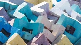 Multi-colored concrete blocks Stock Image