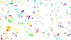 Multi-colored confetti falling stock video