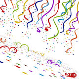 Multi colored confettis  on white background. 3D illustration Stock Images