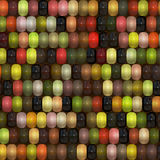 Multi colored corn on Cob Royalty Free Stock Images