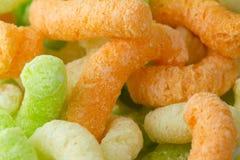 Multi-colored corn sticks stock image