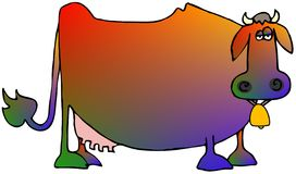 Multi-colored Cow Royalty Free Stock Images