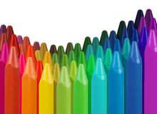 Multi-colored crayon border Royalty Free Stock Image