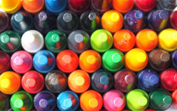 Multi colored crayons Royalty Free Stock Photo