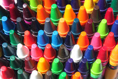 Multi colored crayons Stock Image