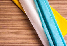 Multi-colored crepe paper Royalty Free Stock Image