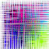 Multi-colored Crosshatch Background. Abstract Art Royalty Free Stock Image