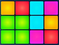 Multi-colored cubes on black background. royalty free stock image