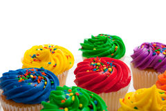 Multi colored cupcakes Stock Photo