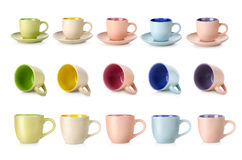 Multi-colored cups Stock Photo
