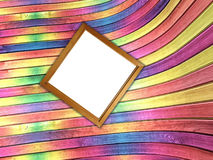Multi-colored curved deformed wall Stock Image