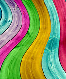 Multi-Colored Curved Planks Background Royalty Free Stock Image