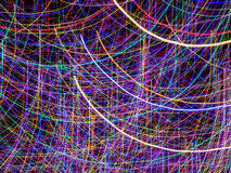 Multi-Colored Curves of Holiday Lights Royalty Free Stock Photos
