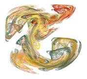 Multi-Colored Damp van de Rook op Wit Stock Afbeeldingen